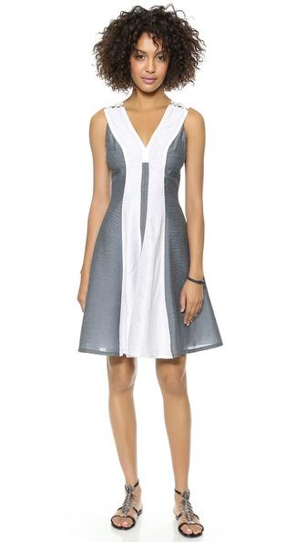 Marchesa Voyage V Neck Dress