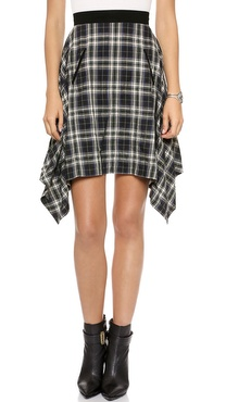 Marissa Webb Paige Gerrit Plaid Skirt