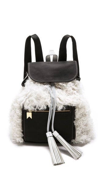 Meredith Wendell Shearling Backstroke Backpack