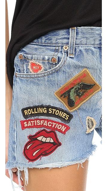 MADEWORN ROCK Rolling Stones 短裤