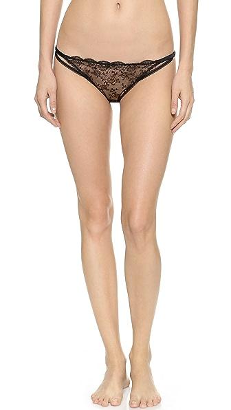 Myla London Tullia Brazillian Panties - Black/Nude