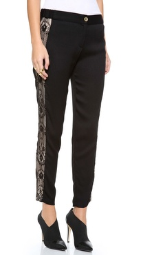 Myne Lace Panel Skinny Pants