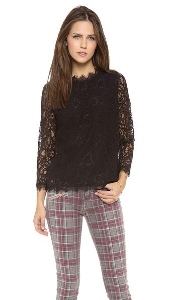 Myne Bree 3/4 Sleeve Lace Blouse
