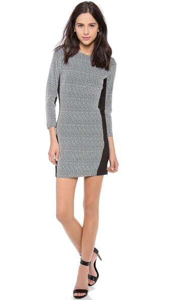 Myne Jett Fitted 3/4 Sleeve Dress