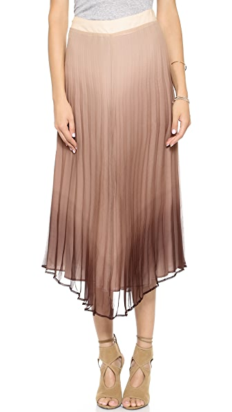 Myne Slate Pleated Midi Skirt