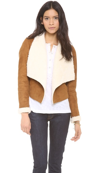 re:named Faux Shearling Jacket