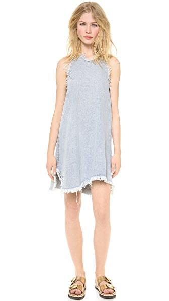 re:named Denim Halter Neck Dress
