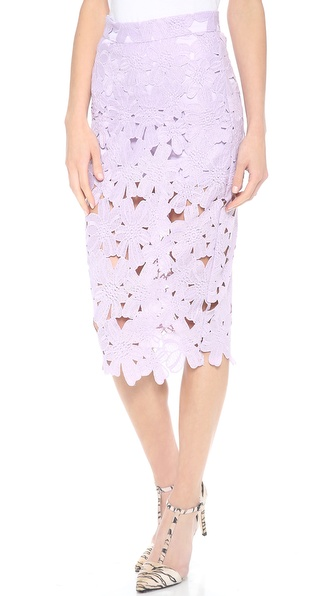 re:named Flower Midi Skirt