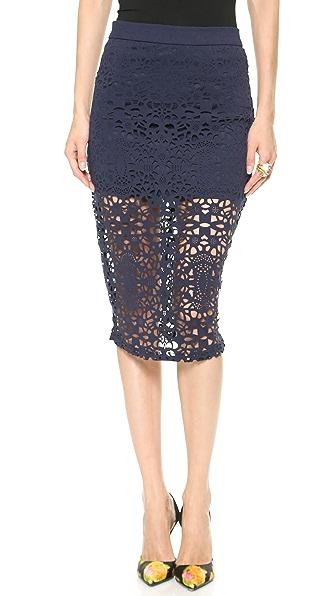 re:named Laser Cut Pencil Skirt
