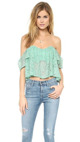 re:named Lace Off Shoulder Top