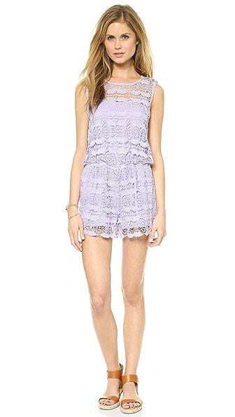 re:named Sleeveless Crochet Lace Romper