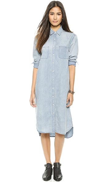 Kupi re:named haljinu online i raspordaja za kupiti Re:Named Denim Shirtdress Denim online