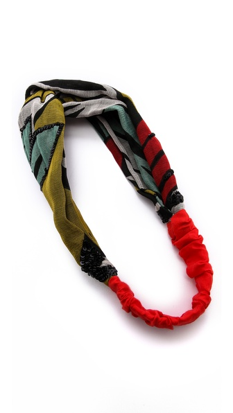 Namrata Joshipura Patterned Twist Turban Headband
