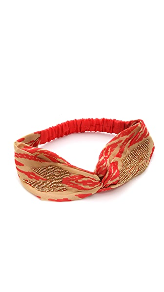Namrata Joshipura Beaded Patterned Turban Headband