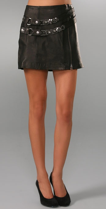 Nanette Lepore I'm No Angel Leather Skirt