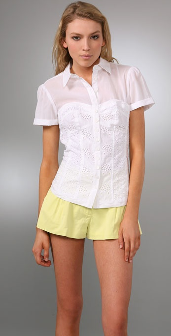 Nanette Lepore Hide Away Shirt