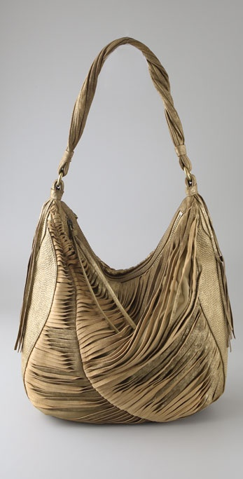 Nanette Lepore Twisted Fringe Hobo