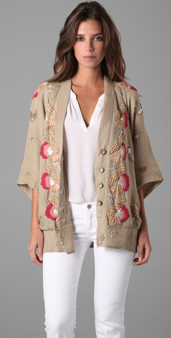 Nanette Lepore Vacationer Beaded Jacket