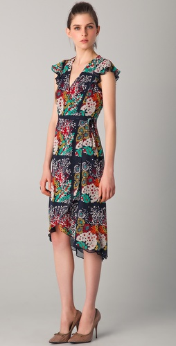 Nanette Lepore Most Lovable Print Midi Dress
