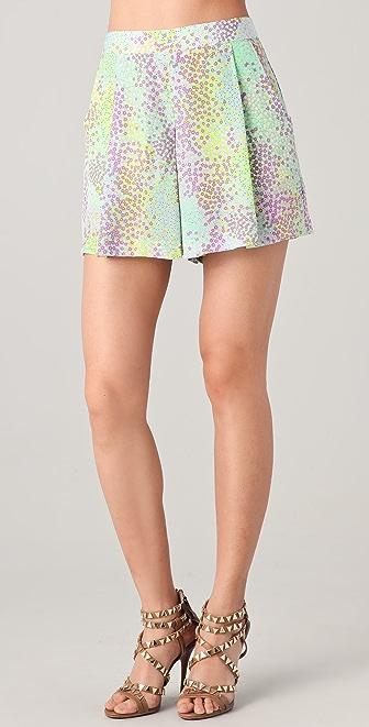 Nanette Lepore Gossip Print Shorts