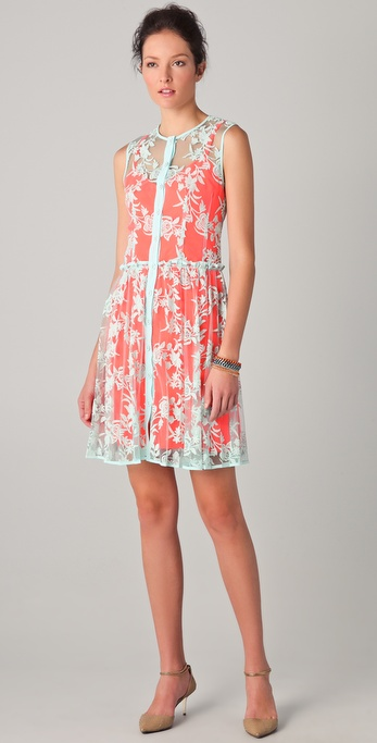 Nanette Lepore Varsity Lace Dress