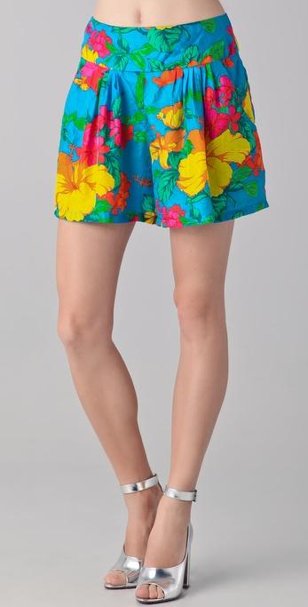 Nanette Lepore Magdalena Print Shorts