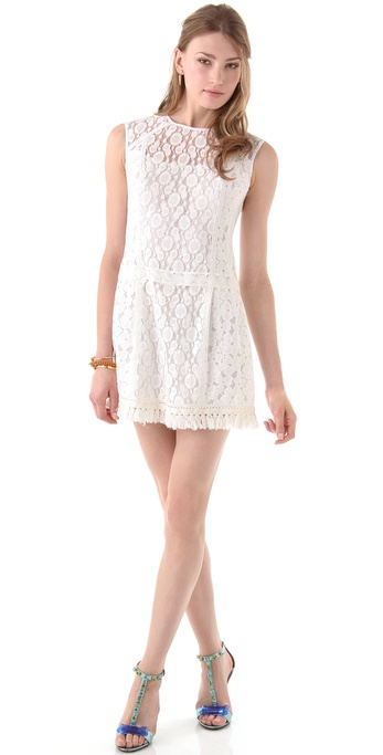 Nanette Lepore Sunset Blvd Lace Shift Dress