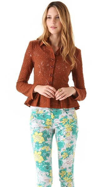 Nanette Lepore Summer Flame Lace Jacket