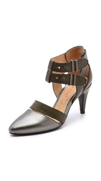 Nanette Lepore Sweet Revenge Metallic Pumps