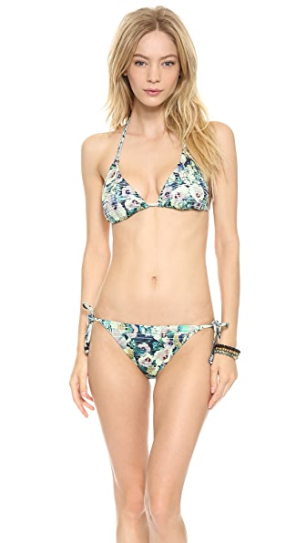 Nanette Lepore Hula Hibiscus Triangle Bikini Top