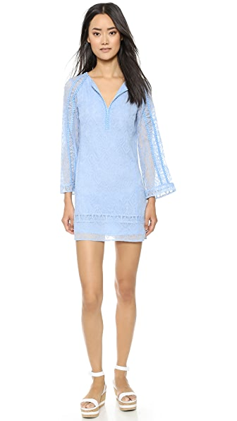Shop Nanette Lepore online and buy Nanette Lepore Drifter Dress Blue Sky dress online