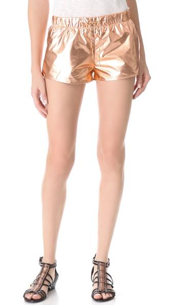 Nanushka Puno Metallic Shorts