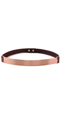 Nicholas Roxanne Thin Rose Gold Plate Belt at Shopbop.com