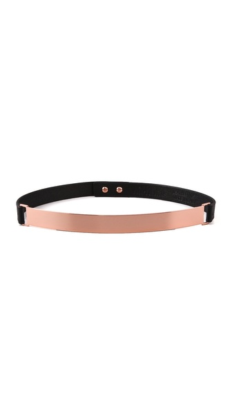 Nicholas Roxanne Thin Rose Gold Plate Belt