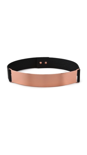 Nicholas Roxanne Rose Gold Plate Belt