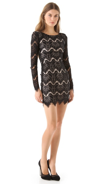 Nicholas Becky Long Sleeve Lace Dress