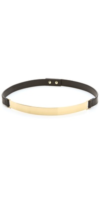 Nicholas Roxanne Thin Gold Plate Belt