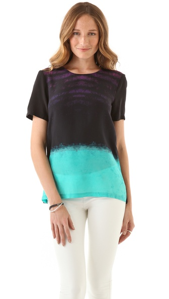 Nicholas Neon Dust Print Tee