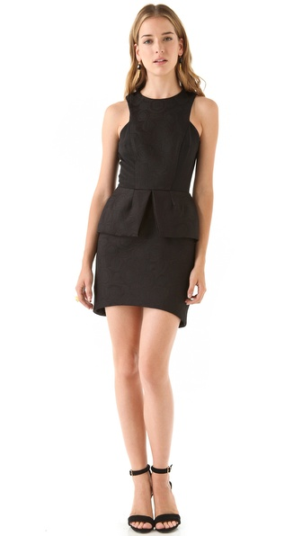 Nicholas Peony Peplum Dress