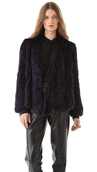 Nicholas Chi Rabbit Fur Jacket