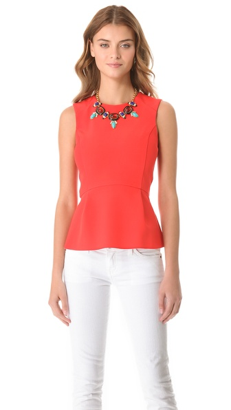 Nicholas Bonded Peplum Top