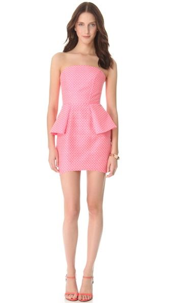 Nicholas Jacquard Strapless Dress