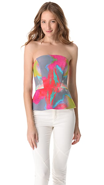Nicholas Watercolor Peplum Top
