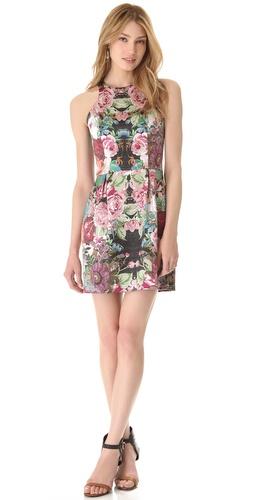 Nicholas Tapestry Print Racer Dress