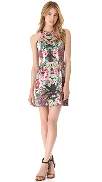 Nicholas Tapestry Print Racer Dress