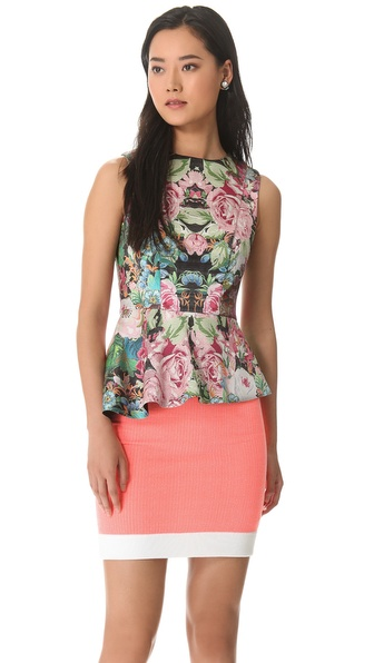 Nicholas Tapestry Print Peplum Top
