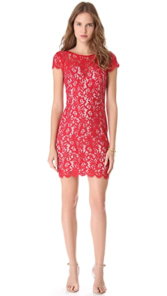 Nicholas Colette Lace Cap Sleeve Dress