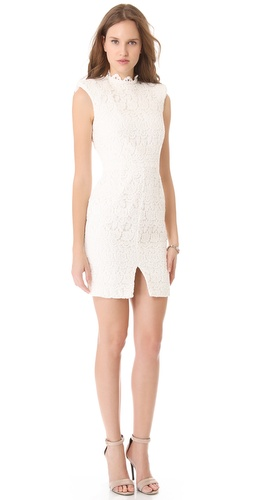 Nicholas Peony Lace High Neck Dress