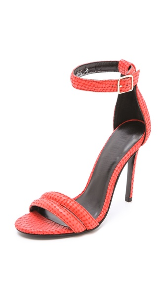 Nicholas Jocelyn Embossed Suede Sandals