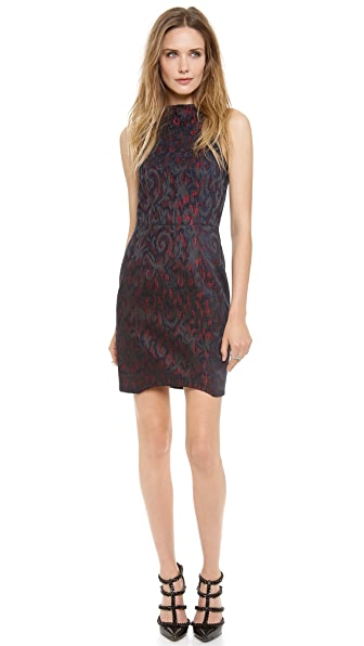Nicholas Velvet Jacquard High Neck Dress